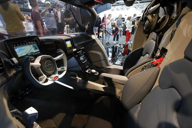 Inside view of the AeroMobil flying car during its unveiling at the Top Marques Monaco supercar show in Monaco April 20, 2017. REUTERS/Jean-Paul Pelissier