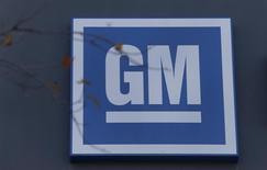 Logo da General Motors em unidade da montadora no Michigan 26/10/2015 REUTERS/Rebecca Cook
