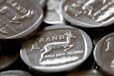 South African Rand coins are seen in this photo illustration taken September 9, 2015.   REUTERS/Mike Hutchings/File Photo