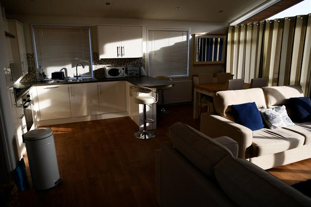 The sun shines on the interior of a mobile holiday cabin at Briar Hill in Newton Ferrers, Devon, Britain April 11, 2017. REUTERS/Dylan Martinez