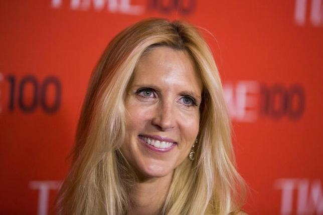 Journalist Ann Coulter arrives at the Time 100 gala celebrating the magazine's naming of the 100 most influential people in the world for the past year, in New York April 29, 2014. REUTERS/Lucas Jackson