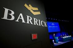 FILE PHOTO: Barrick Gold Corp Chairman of the board John Thornton speaks during their annual general meeting for shareholders in Toronto, Ontario, Canada on April 28, 2015.    REUTERS/Mark Blinch/File Photo