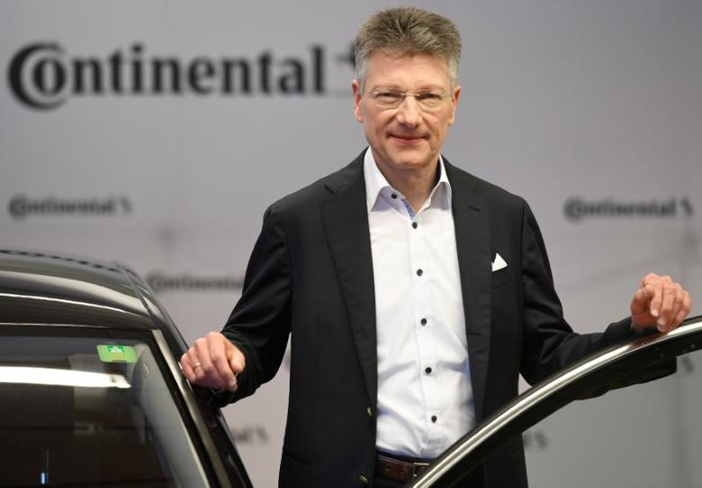 Elmar Degenhart, CEO of German tyre company Continental, poses for the media before the annual news conference in Hanover, Germany March 2, 2017. REUTERS/Fabian Bimmer