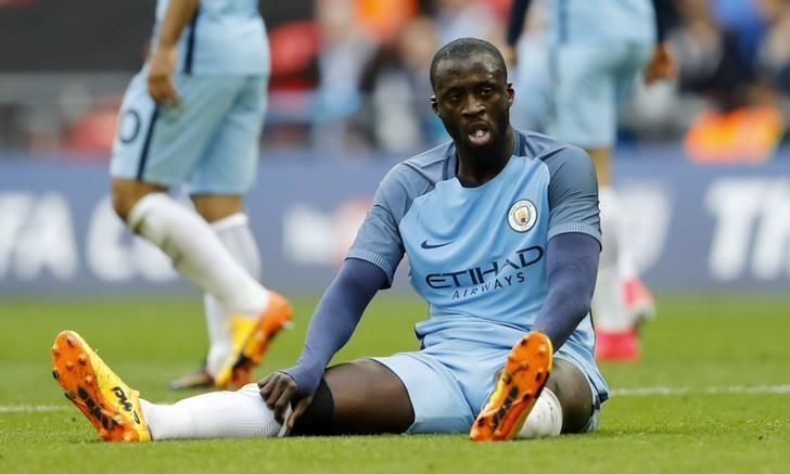 Britain Football Soccer - Arsenal v Manchester City - FA Cup Semi Final - Wembley Stadium - 23/4/17 Manchester City's Yaya Toure looks dejected  Action Images via Reuters / Carl Recine Livepic