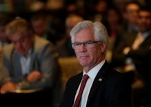 Canada's Natural Resources Minister Jim Carr sits before giving a speech at the Mexico Mining Forum in Mexico City, Mexico February 1, 2017. REUTERS/Henry Romero