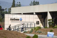 Anthem a annoncé mercredi un bénéfice au premier trimestre en hausse de 44% en raison d'une progression du nombre de souscripteurs à ses programmes Medicaid et Medicare et d'une hausse de ses primes. /Photo d'archives/REUTERS/Gus Ruelas