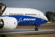 The new Boeing 787-10 Dreamliner taxis on the runway during it's first flight at the Charleston International Airport in North Charleston, South Carolina, United States March 31, 2017.  REUTERS/Randall Hill