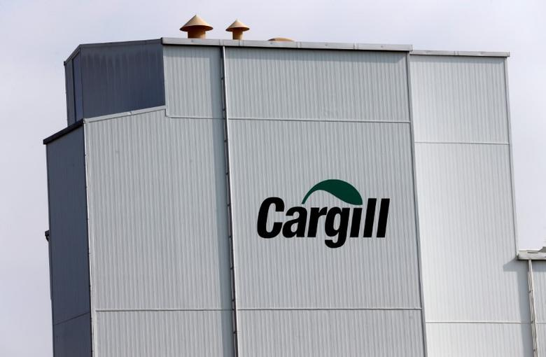 A Cargill logo is pictured on the Provimi Kliba and Protector animal nutrition factory in Lucens, Switzerland, September 22, 2016. REUTERS/Denis Balibouse