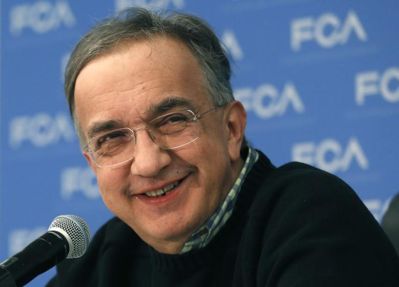 Fiat Chrysler Automobiles CEO Sergio Marchionne smiles during the North American International Auto Show in Detroit, Michigan, U.S., January 9, 2017.  REUTERS/Rebecca Cook