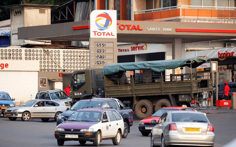 FILE PHOTO: A Total petrol station is seen in Libreville, Gabon, February 2, 2017. Picture taken February 2, 2017 REUTERS/Mike Hutchings/File Photo