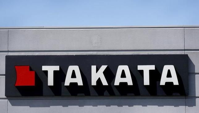 4月27日、タカタと再建計画を策定中の外部専門家委員会は、スポンサー候補である中国・寧波均勝電子傘下の米自動車部品メーカー、キー・セーフティ・システムズ(KSS)と自動車メーカー各社が再建枠組みについて大筋合意したとの報道に関し、「合意の報告は受けていない」とのコメントを発表した。写真の「タカタ」ロゴは2015年5月米ミシガン州で撮影(2017年 ロイター/Rebecca Cook)