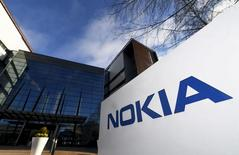 The headquarters of Finnish telecommunication network company Nokia is pictured in Espoo, Finland April 27, 2017.  Lehtikuva/Vesa Moilanen/via REUTERS   ATTENTION EDITORS - THIS IMAGE WAS PROVIDED BY A THIRD PARTY. FOR EDITORIAL USE ONLY. NO THIRD PARTY SALES. NOT FOR USE BY REUTERS THIRD PARTY DISTRIBUTORS. FINLAND OUT. NO COMMERCIAL OR EDITORIAL SALES IN FINLAND