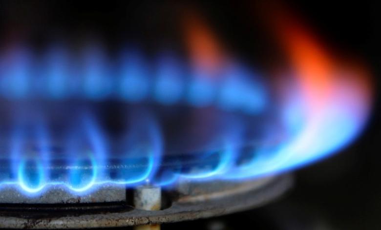 FILE PHOTO:  Illustration photo of a burner flame on a gas cooker, November 13, 2012.    REUTERS/Nigel Roddis/Illustration/File Photo