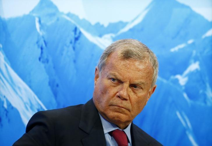 Martin Sorrell CEO of WPP attends the World Economic Forum (WEF) annual meeting in Davos, Switzerland January 17, 2017.  REUTERS/Ruben Sprich