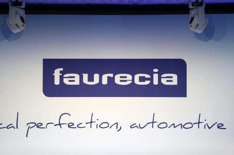 French car parts supplier Faurecia's logo is seen during the company's investor day in Paris, France, April 19, 2016.  REUTERS/Charles Platiau
