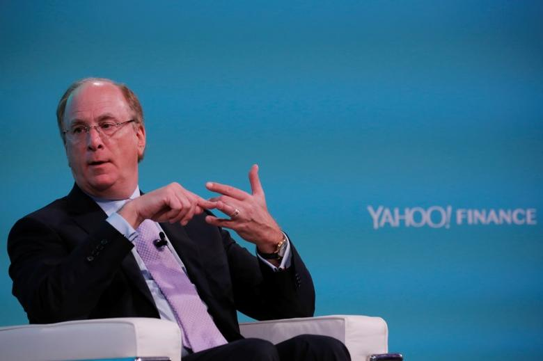 Larry Fink, Chief Executive Officer of BlackRock, takes part in the Yahoo Finance All Markets Summit in New York, U.S., February 8, 2017. REUTERS/Lucas Jackson - RTX305I0