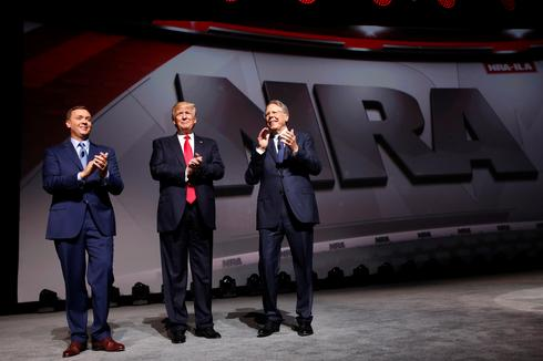 Trump speaks at NRA convention
