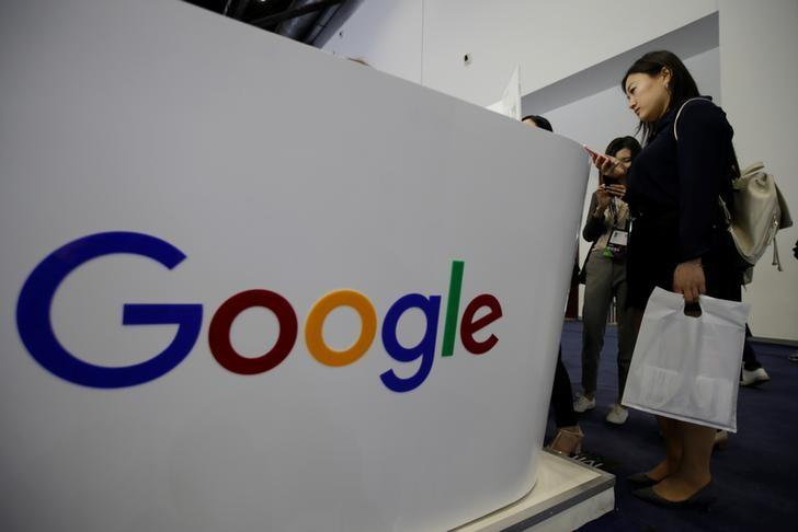 People visit Google's booth at the Global Mobile Internet Conference (GMIC) 2017 in Beijing, China April 28, 2017. REUTERS/Jason Lee/Files