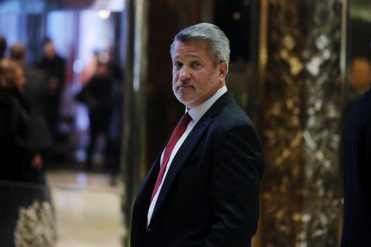 FILE PHOTO: Fox News President Bill Shine departs after meeting with U.S. President-elect Donald Trump at Trump Tower in the Manhattan borough of New York, U.S., November 21, 2016.  REUTERS/Lucas Jackson