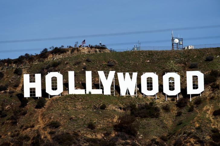 FILE PHOTO: A view shows the ''iconic ''Hollywood'' sign overlooking Southern California's film-and-television hub in the Hollywood Hills in Los Angeles, California, U.S. January 1, 2017.  REUTERS/Kevork Djansezian