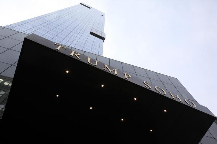 The Trump Soho Hotel is seen in New York April 9, 2010. The first Trump Hotel built in Downtown New York, a 46-story, 391-room luxury hotel condominium, opened to guests on Friday. REUTERS/Jessica Rinaldi