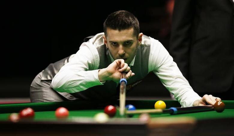 Snooker - Dafabet Masters - Alexandra Palace - 14/1/16Mark Selby in action during the quarter finalMandatory Credit: Action Images / Peter CziborraLivepic