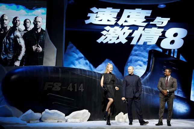 5月1日、中国の4月の映画興行収入は、米国の人気カーアクション映画「ワイルド・スピード ICE BREAK」が封切られた影響で急増した。写真は3月撮影、北京でのイベントの様子(2017年 ロイター/Aly Song)