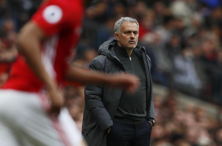Britain Football Soccer - Manchester United v Swansea City - Premier League - Old Trafford - 30/4/17 Manchester United manager Jose Mourinho Action Images via Reuters / Jason Cairnduff Livepic/Files