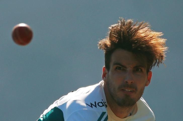 Cricket - England team practice session - Punjab Cricket Association Stadium, Mohali, India - 25/11/16. England's Steven Finn bowls in the nets. REUTERS/Adnan Abidi/files