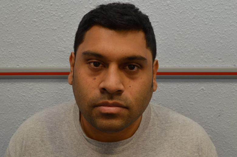 Samata Ullah is seen in this undated custody photograph received from the Metropolitan Police in London April 28, 2017. Metropolitan Police/Handout via REUTERS