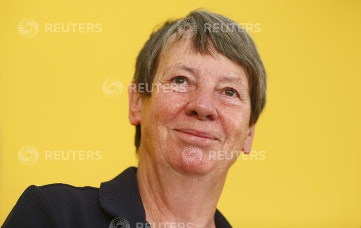 German Environment Minister Barbara Hendricks during a press conference in Aachen, Germany, August 23, 2016.      REUTERS/Thilo Schmuelgen