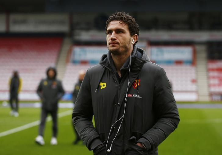 Britain Soccer Football - AFC Bournemouth v Watford - Premier League - Vitality Stadium - 21/1/17 Watford's Daryl Janmaat before the match Action Images via Reuters / Peter Cziborra/ Livepic/ Files