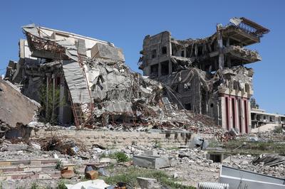 Mosul in ruins