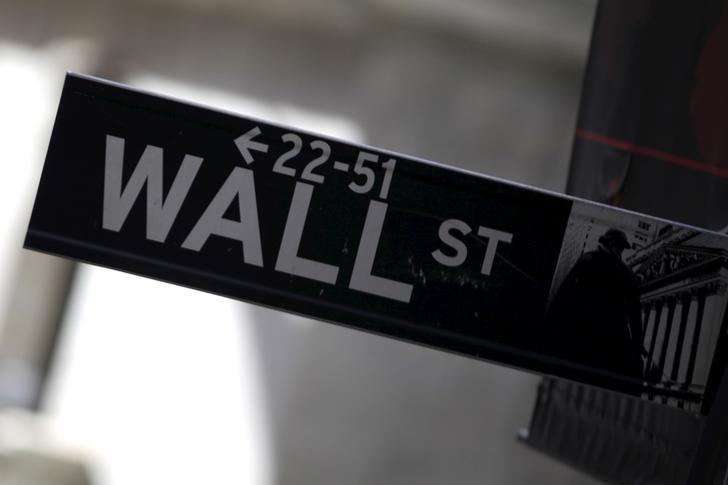 A Wall Street sign is seen in Lower Manhattan in New York, January 20, 2016. REUTERS/Mike Segar/Files