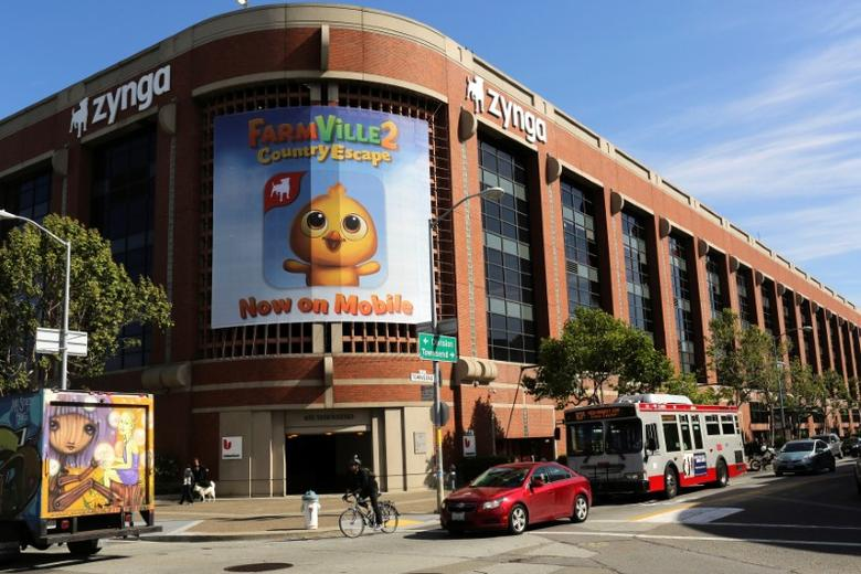 FILE PHOTO -  The Zynga headquarters is pictured in San Francisco, California April 23, 2014.   REUTERS/Robert Galbraith/File Photo