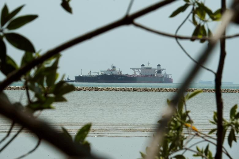 FILE PHOTO: The Grace Star oil tanker is seen being used as a floating oil storage facility off the coast of Johor November 12, 2016.     REUTERS/Henning Gloystein/File Photo