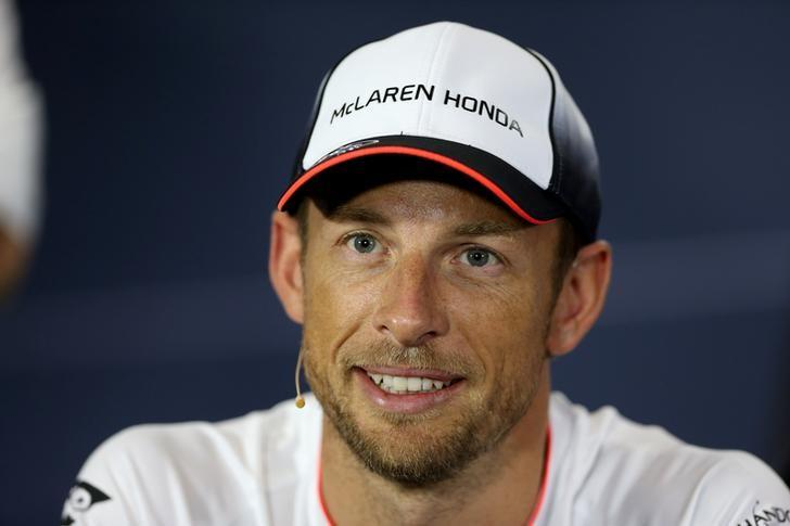Britain Formula One - F1 - British Grand Prix 2016 - Silverstone, England - 7/7/16 McLaren's Jenson Button during the press conference Action Images via Reuters / Matthew Childs/Files
