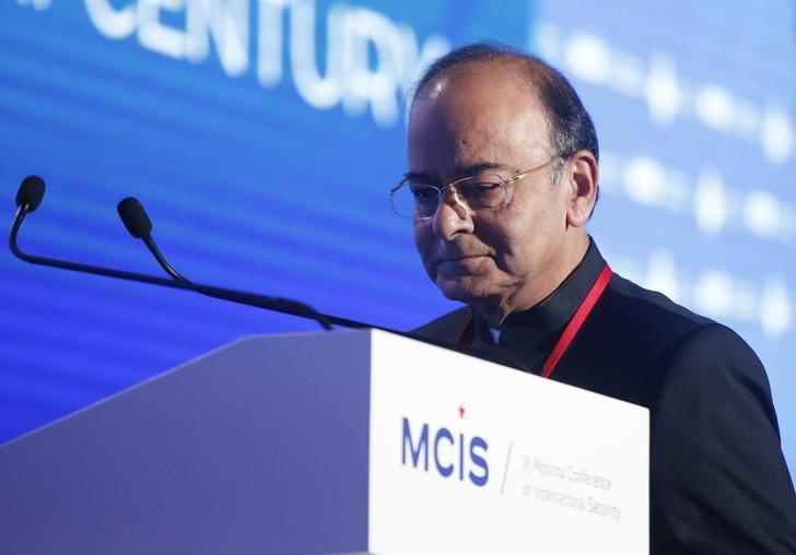 Defence Minister Arun Jaitley attends the annual Moscow Conference on International Security (MCIS) in Moscow, Russia, April 26, 2017. REUTERS/Maxim Shemetov/Files