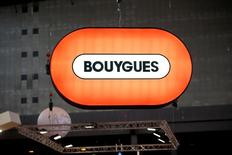 A Bouygues company logo is seen at the World Efficiency congress in Paris, France, October 14, 2015. REUTERS/Charles Platiau/File Photo