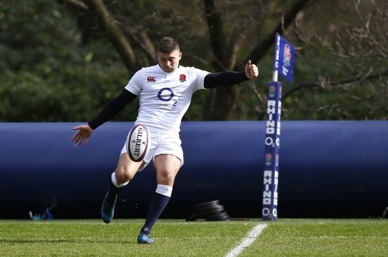 England's Ben Youngs during training Action Images via Reuters / Peter Cziborra