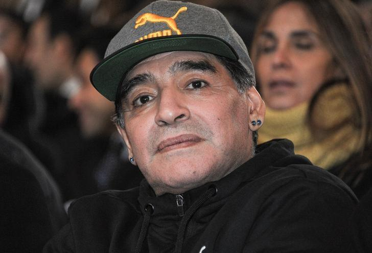 Argentinian soccer legend Diego Armando Maradona attends the Italian soccer Hall of Fame 2017 event in Florence, Italy, January 17, 2017.  REUTERS/Paolo Lo Debole/Files