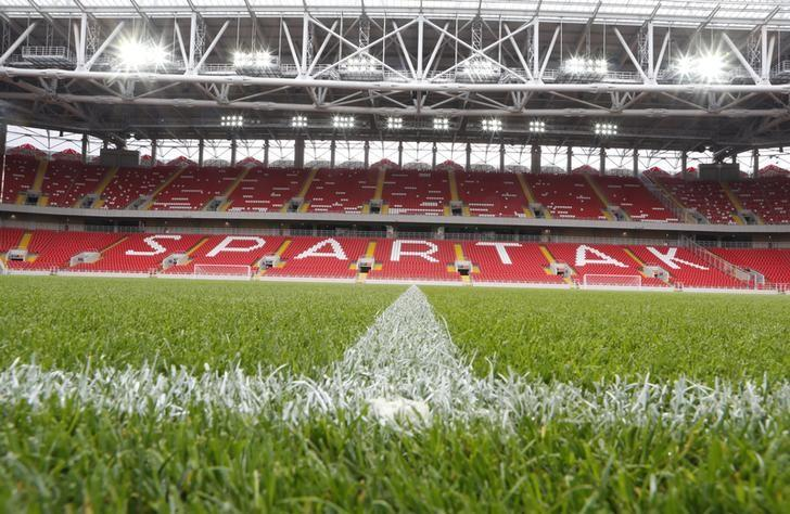 An interior view shows the Otkrytie Arena, the home stadium of Spartak Moscow football club, in Moscow August 27, 2014. REUTERS/Sergei Karpukhin/File Photo