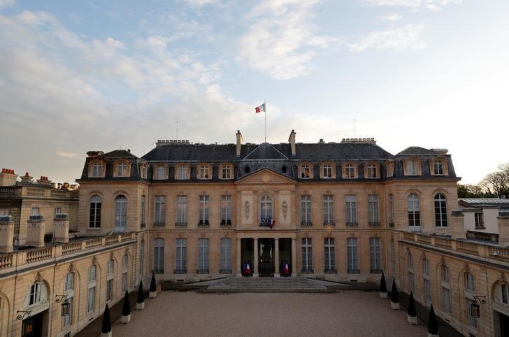 2017年3月28日,法国巴黎,总统官邸爱丽舍宫。REUTERS/Philippe Wojazer