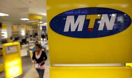 A customer leaves an MTN shop in Johannesburg,  file.    REUTERS/Siphiwe Sibeko