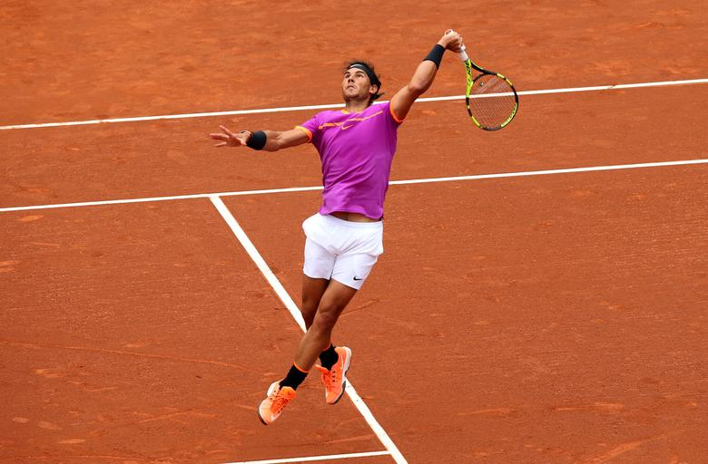 Tennis - Barcelona Open Final - Rafael Nadal of Spain v Dominic Thiem of Austria - Real Club de Tenis Barcelona, Spain - 30/04/17 - Rafael Nadal in action.  REUTERS/Albert Gea