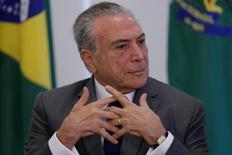 Presidente Michel Temer no Palácio do Planalto, em Brasília. 12/04/2017 REUTERS/Ueslei Marcelino