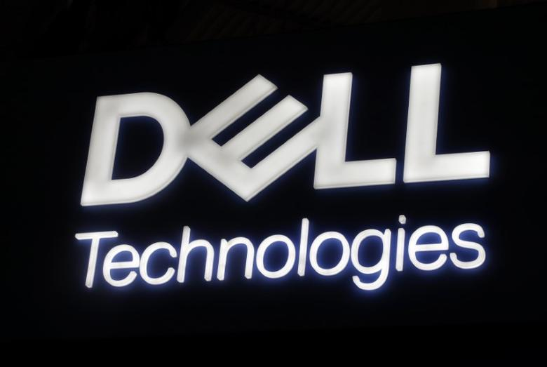 FILE PHOTO: Dell's logo is seen during Mobile World Congress in Barcelona, Spain, February 27, 2017. REUTERS/Eric Gaillard