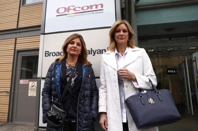 Lawyer Lisa Bloom and regular Fox TV guest Wendy Walsh arrive at the office of Ofcom in London, Britain May 8, 2017. REUTERS/Neil Hall