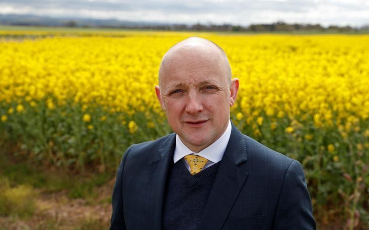 Calum Kerr, MP, poses for a picture near Duns in the Scottish Borders, Scotland, Britain April 27, 2017. Picture taken April 27, 2017. REUTERS/Russell Cheyne
