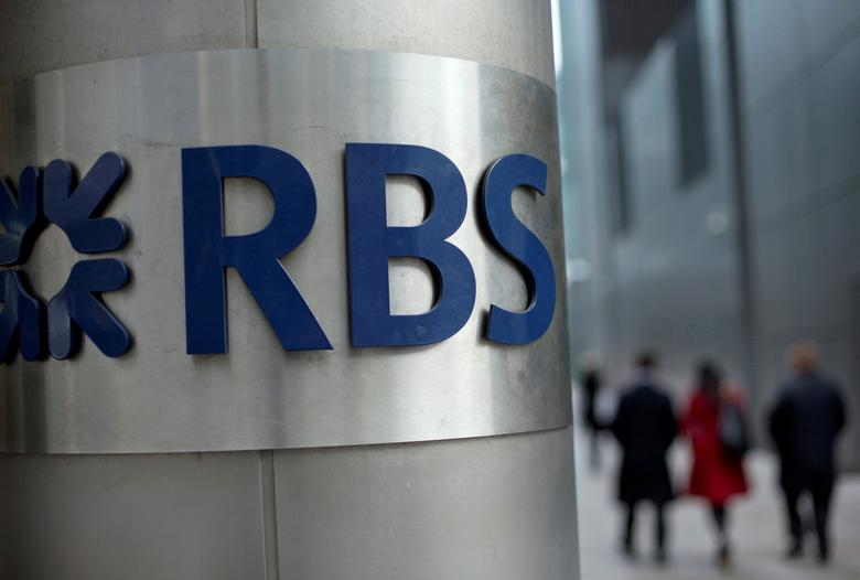 FILE PHOTO: FILE PHOTO: People walk past a Royal Bank of Scotland office in London, Britain, February 6, 2013.    REUTERS/Neil Hall/File Photo